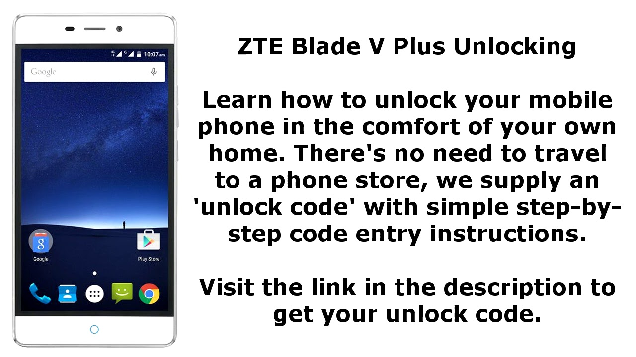 Unlock ZTE Blade V Plus - SIM Network Unlock PIN