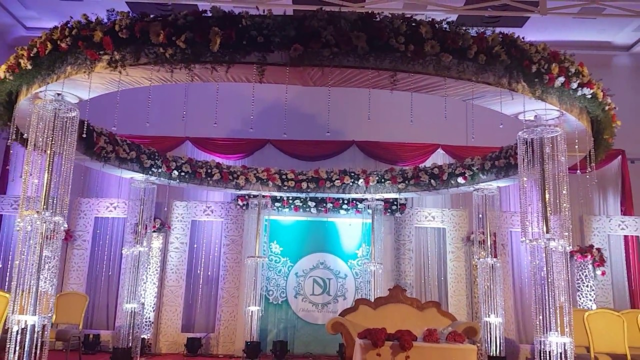 Muslim Wedding Reception Stage Decoration In Trivandrum