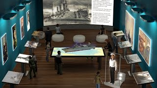 Интерактивные инсталяции для музеев от SKY Interactive