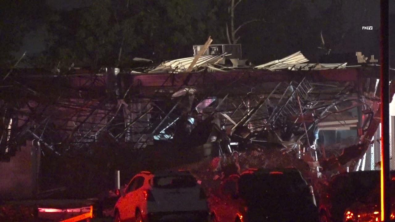 Massive Building Collapsed in Tornado Event in Trevose PA