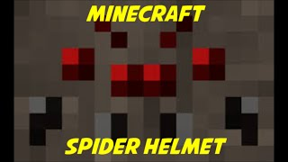 How to make a Spider Helmet in Minecraft