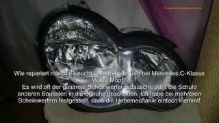 H7 Frontscheinwerfer Leuchtweitenregulierung der Mercedes C - Klasse W203 Mopf leicht reparieren