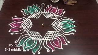 Lotus Padi kolam for Dhanurmasam special || Sankranthi muggulu || Margazhi kolam for Dhanurmasam