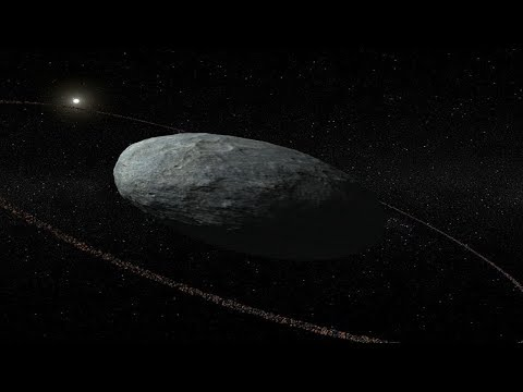 Scientists have discovered: a ring system around the dwarf planet Haumea.