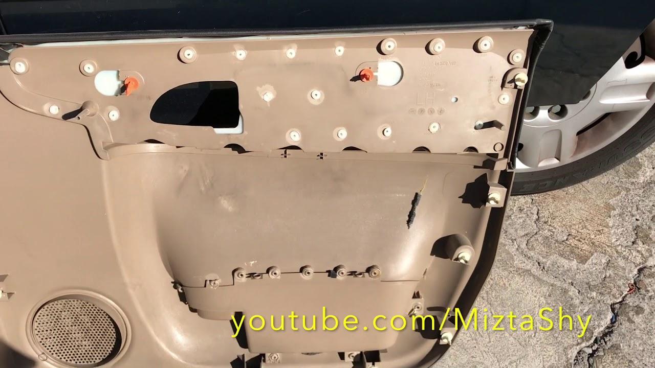 2006 Chevy Uplander Door Speaker Pannel Removal Youtube