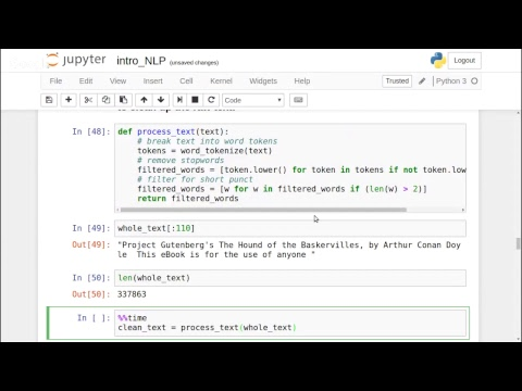 Introduction to Natural Language Processing with NLTK