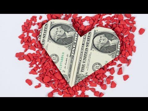 WEDDING Dollar Gift HEART, gifting money in a heart shape ❤️