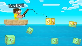 We FISHED For LUCKY BLOCKS In MINECRAFT! (Very Lucky)