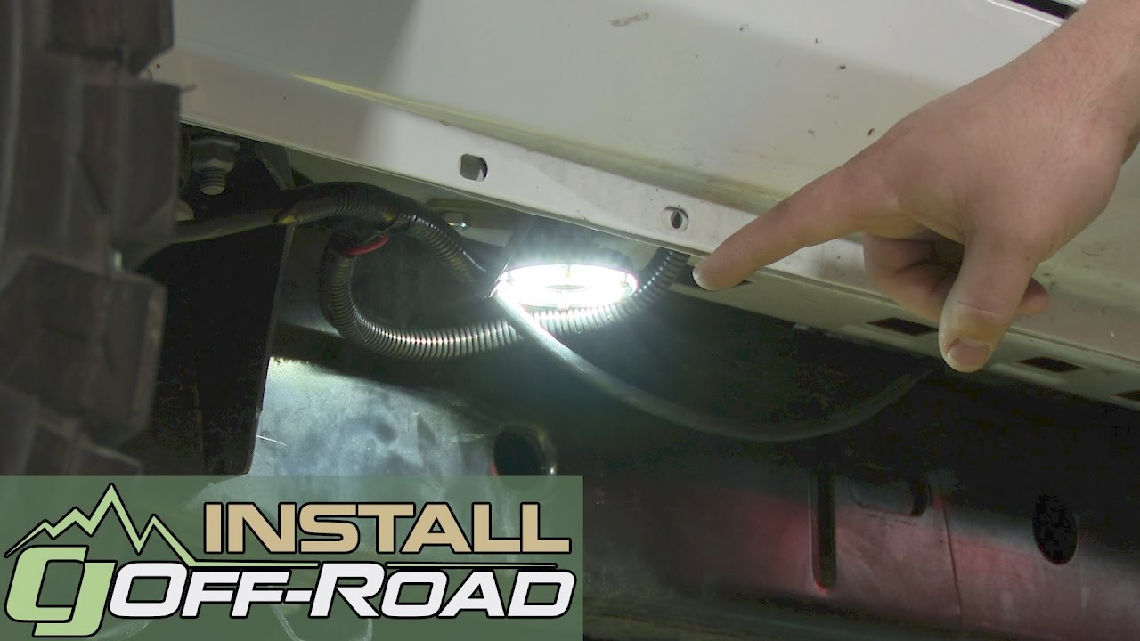 jeep wrangler jk kc hilites underbody rock light kit led cyclone 6p white 2007 2018 installation [ 1280 x 720 Pixel ]