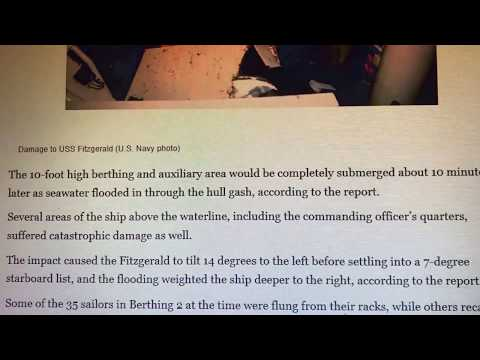 !8/17! NAVY REPORT! USS FITZGERALD COVERUP CONTINUES!! cut redacted version{!}