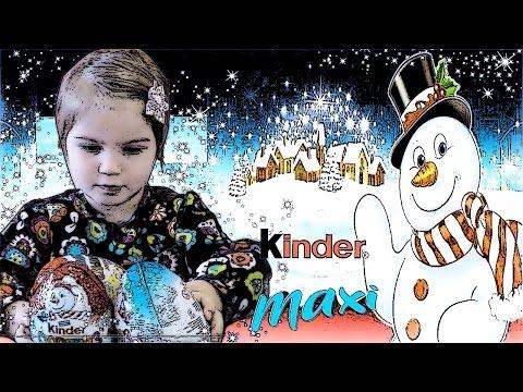 Видео, Киндер Сюрприз МАКСИ 2016-2017 Снежные монстры  Kinder MAXI Spaige Schneemonster SPASSIGE