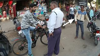 Police Reaction in 80cc cycle