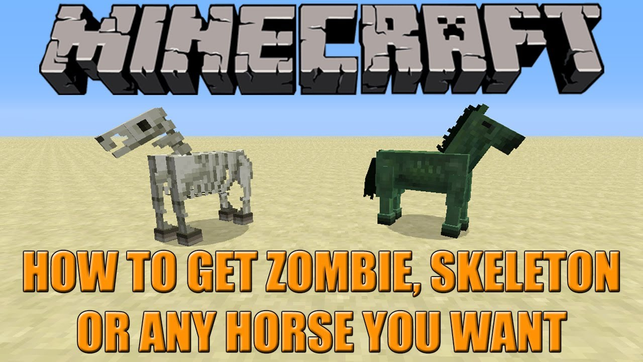 HOW TO GET ZOMBIE AND SKELETON HORSES  Minecraft 12.12 Tutorial