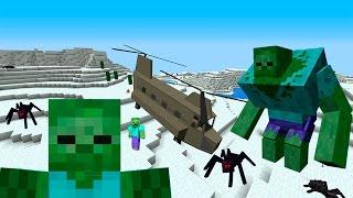 Отряд Военных И Вертолет #3 Зомби Апокалипсис В Майнкрафт