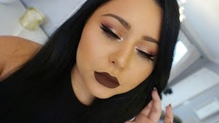 Brown Lips FALL Makeup Tutorial