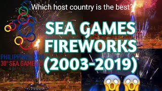 SEA GAMES OPENING CEREMONY | TORCH LIGHTING & FIREWORKS | 2003-2019