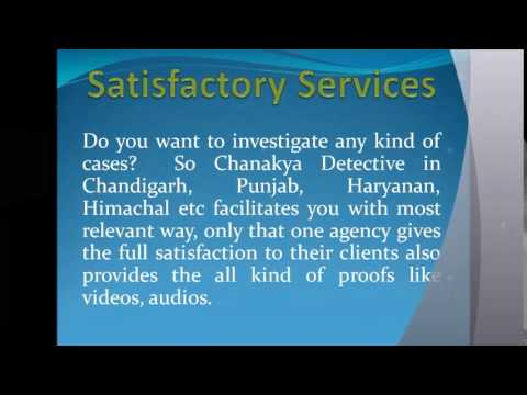 Private Detective Agency in Chandigarh| Private Detective Agencies in Chandigarh