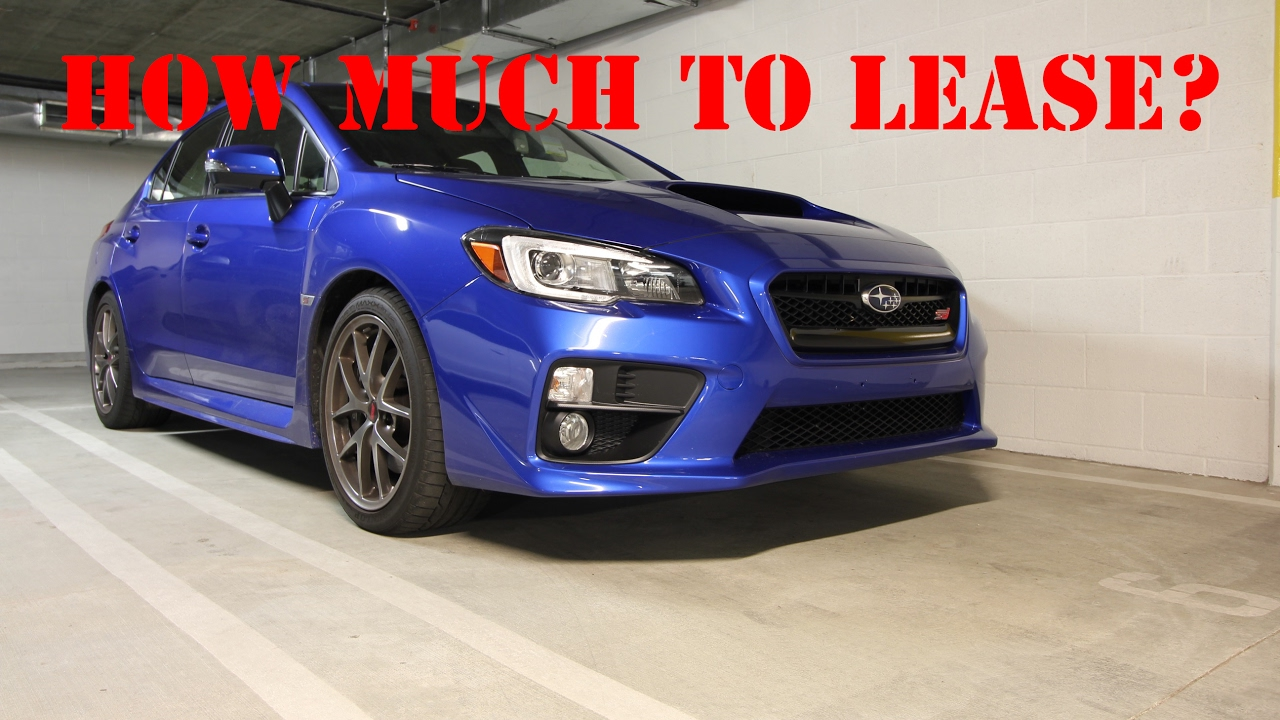 How Much To Lease A New Subaru Wrx Sti Youtube