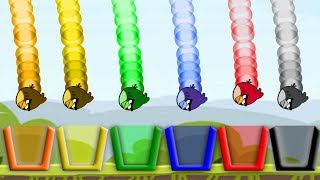 Angry Birds Drink Water - ALL 6 DIFFERENT BIRTHDAY BEAR DRINKING WATER MAUUF THEM