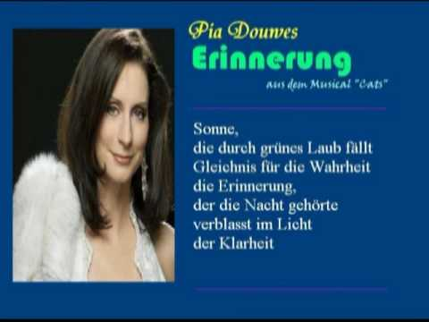"""Pia Douwes: Erinnerung (""""Memory"""" from Musical """"Cats"""" + Lyrics in German)"""