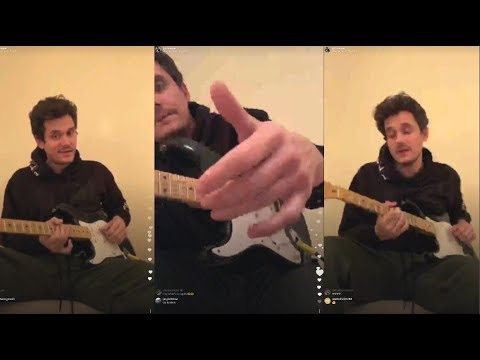 John Mayer Gives Guitar Lessons to his fans   Instagram Live Stream  15 January 2018