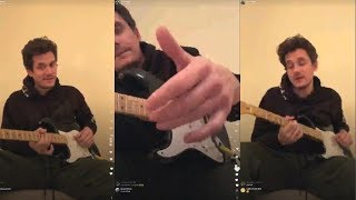 John Mayer Gives Guitar Lessons to his fans | Instagram Live Stream |15 January 2018