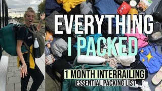 Everything I Packed for Month Of Interrailing Solo (Only 40L Rucksack!)