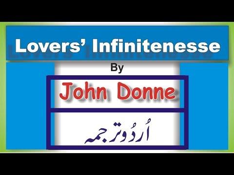 Lovers' Infinitenesse by John Donne ; M,A. English (Urdu Translation)