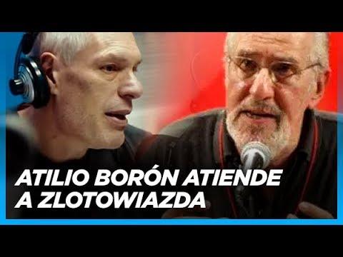 """Borón le para el carro a Zloto """"Marcelo ¿por qué usas la palabra 'régimen' para hablar de Maduro?"""""""