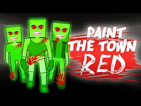 ZOMBIE ATTACK IN PAINT THE TOWN RED (Paint the Town Red Funny Gameplay)
