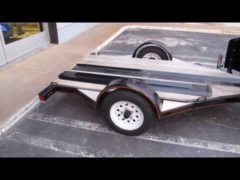 Heavy duty custom build motorcycle trailer for sale in Texas, very solid, pulls great