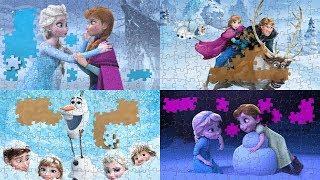 Disney Frozen Best Puzzles for Kids Compilation - Part 1