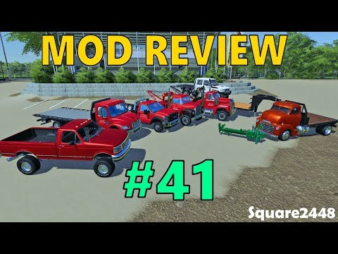 Farming Simulator 19 Mod Review #41 Tow Trucks, OBS Ford, Log Splitter & More!