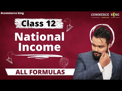 Class 12 macroeconomics(basic formulas of national income) economics on your tips video 45
