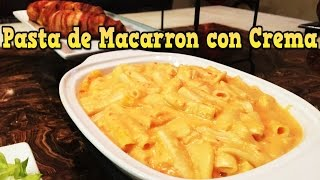 Pasta de macarron con crema