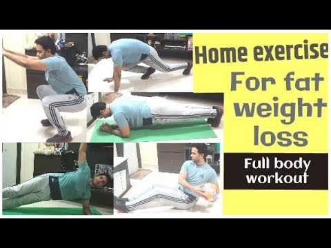 Home exercise to lose weight and strengthen your core | without equipment's