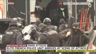 Elite Police Arrive At Scene Of Second Paris Attack