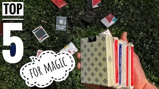 Best Playing Cards for Magic // TOP 5
