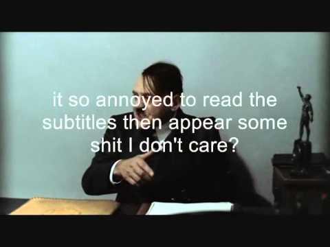 Hitler hate youtube propagada  Downfall Parody