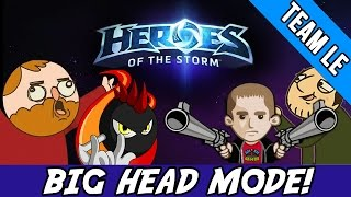 NEW BIG HEAD MODE! - TEAM LOW EXPECTATIONS [HEROES OF THE STORM HD]
