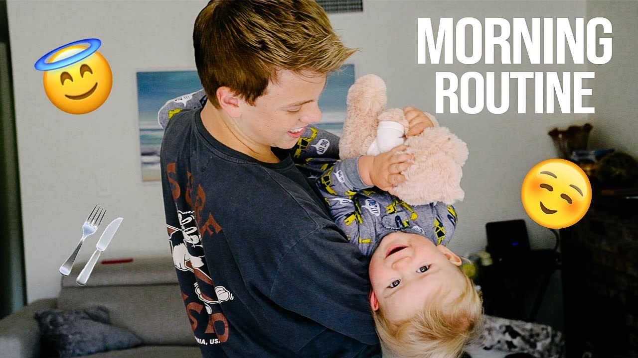 MORNING ROUTINE WITH MY NEPHEW!!!