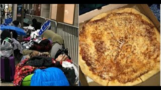 """BTS Ordered Pizza For ARMYs Camping In Line For """"SNL"""""""