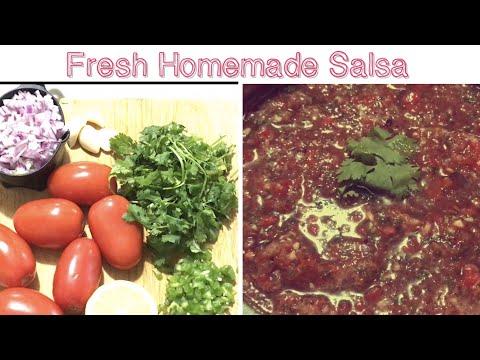 Salsa/Fresh Homemade Tomato 🍅 Salsa Recipe/ Mexican Cuisine