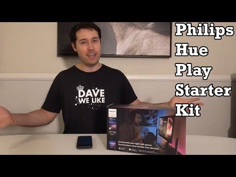 Philips Hue Play Starter Kit Light Unboxing Review Hands On First Impression Setup Best Buy 4K HD TV