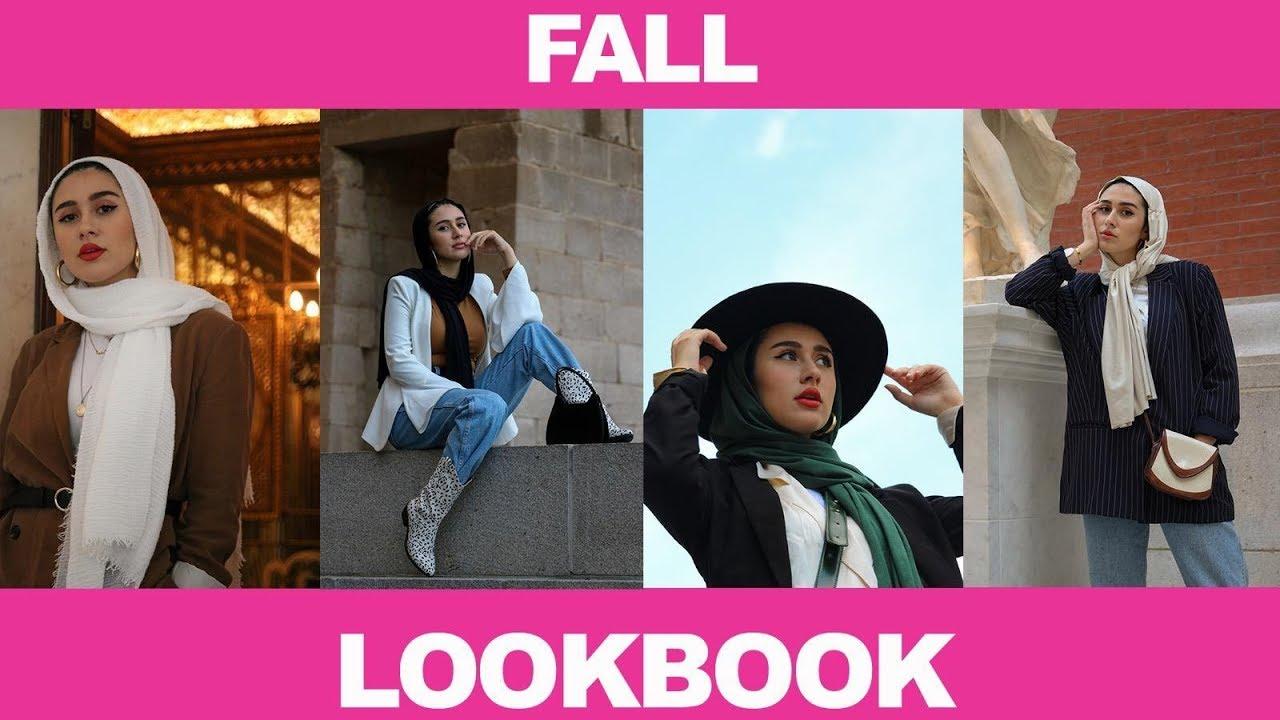 [VIDEO] - MUSLIM GIRL FALL LOOKBOOK (modest fashion/hijab ft. Yasmeena Rasheed) 2