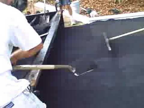 Asphalt Paving Using A Drag Box Youtube
