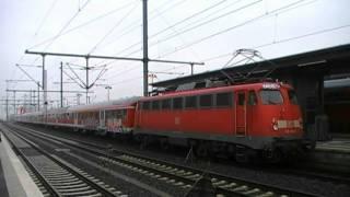 Fußballzug in Bielefeld (2): Karslruher Steuerwagen mit n-Wagen und Baureihe 110