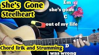 Chord Mudah (She's Gone - Steelheart) By Darmawan Gitar ( Tutorial Mudah Pemula)