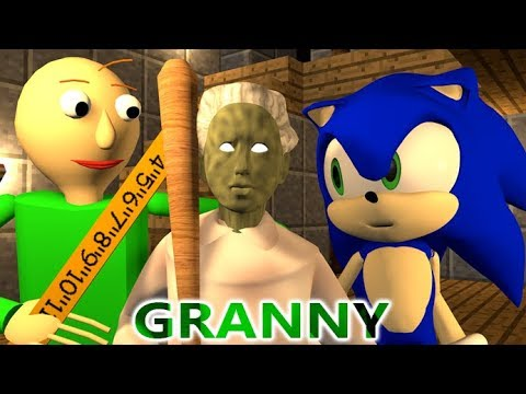 download GRANNY VS BALDI & SONIC CHALLENGE! (official) Minecraft Horror Game Update Animation Video