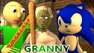 GRANNY VS BALDI & SONIC CHALLENGE! (official) Minecraft Horror Game Update Animation Video thumbnail
